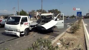 Park halindeki kamyonun içinde neye uğradığını şaşırdı.