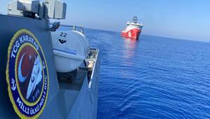 MSB Twitterdan duyurdu Sondaj gemilerine yakın koruma