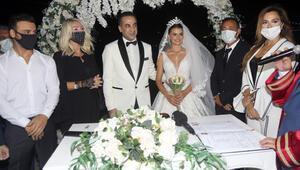 Sinan Güzel ve Seval Duğan evlendi Ünlü isimler düğünde bir araya geldi