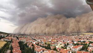 Ankarada kum fırtınası