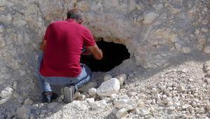 Yol çalışması sırasında ortaya çıktı Kayaları delmişler...