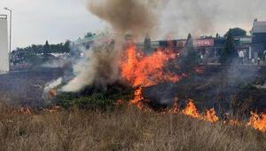 Milletvekilini meşaleli karşılama, yangına neden oldu