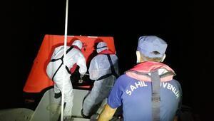 Muğlada Türk kara sularına itilen yabancı uyruklu 9 kişi kurtarıldı