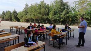 8inci sınıflara okul bahçesinde kurs