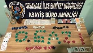 Bursada kahveye kumar baskını: 13 kişiye 68 bin lira ceza