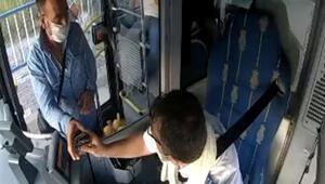 Otobüste düşürdüğü içinde 6 bin lira olan cüzdanını şoförden alırken ağladı