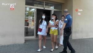 Otelde turistlere Maske takın diyen hemşire yüzüne terlik yedi