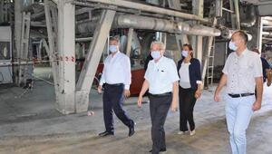 Başkan Akay, şeker üretim tesislerini inceledi