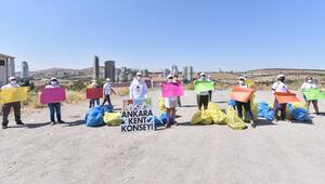 50 çöp poşeti atık toplandı
