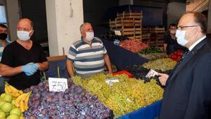 Zonguldakta Vali Tutulmazı gören esnaf, eldiven taktı