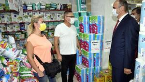 Edirne Valisi Canalp, koronvirüs denetimine katıldı