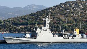 Son dakika haberler: Türk hücümbotu, Kaş Setur Marinaya demirledi