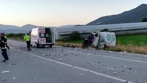 Çavdırda kaza: 1 ölü, 2 yaralı