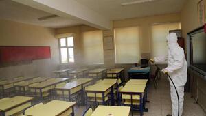 Pamukkalede okullar dezenfekte edildi