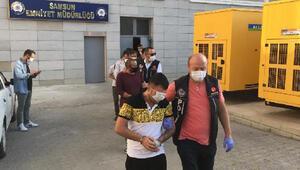 Uyuşturucu operasyonunda gözaltına alındı, maskeyle yüzünü gizlemeye çalıştı