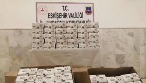 Eskişehir'de 19 bin 850 adet kaçak maske ele geçirildi