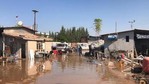 Suruç'ta taban suyu yükseldi, bazı mahalleleri su bastı