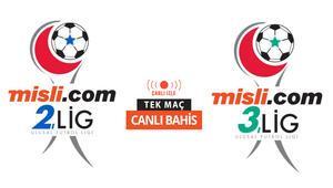 Misli.com 2. Lig ve 3. Lig maçları hem CANLI YAYINDA hem de CANLI İDDAA oynanabilecek