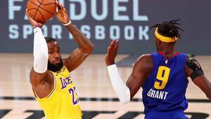 NBAde Los Angeles Lakers, Denver Nuggets karşısında seriyi 1-0 yaptı