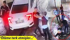 Dövüldükten sonra araçtan atıldı, başka bir araç çarptı Dehşet anları kamerada