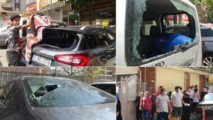 Park halindeki araçların camını demir levye ile kırdı