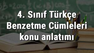 4. Sınıf Türkçe Benzetme Cümleleri konu anlatımı