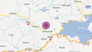Muşta 3.8 büyüklüğünde deprem