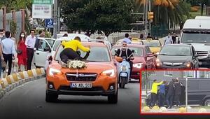 Son dakika haberler: İstanbulda trafikte tehlikeli anlar Canlarını hiçe saydılar