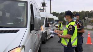Jandarma ekiplerinden okul servislerinde koronavirüs denetimi
