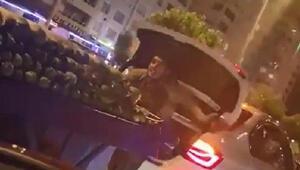 Seyyar satıcının otomobil bagajında tehlikeli yolculuğu
