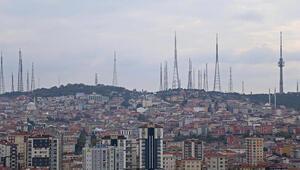 Çamlıca Tepesindeki eski antenler kaldırılıyor