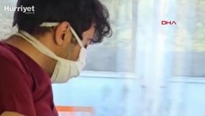 Sağlık çalışanı, yorgunluk nedeniyle uykuya yenik düştü