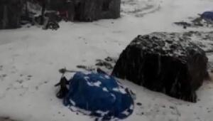 Ardahana kar gibi dolu yağdı