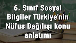 6. Sınıf Sosyal Bilgiler Türkiyenin Nüfus Dağılışı konu anlatımı