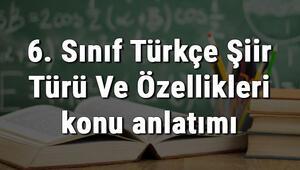 6. Sınıf Türkçe Şiir Türü Ve Özellikleri konu anlatımı