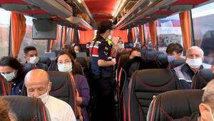 Jandarmadan otobüslerde HES kodu ve maske denetimi