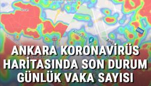 Ankara Koronavirüs haritasındaki son durum.. İlçe ilçe Ankara Kovid-19 risk haritası, günlük vaka sayıları