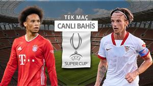 Süper Kupa hangi takımın olacak Bayernin Sevilla karşısında iddaa oranı...