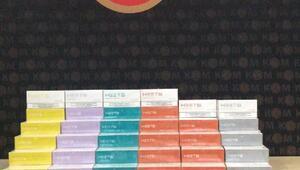 Boluda 80 bin liralık kaçak elektronik sigara tütün kartuşu yakalandı