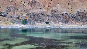 Fırat Nehri üzerine kurulan zipline ilgi odağı oldu