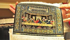 Leonardo da Vinci'nin tablosunun dokunduğu ipek halı 80 bin dolara satışa çıkarıldı