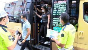 Küçükçekmecede minibüsten 24 ayakta yolcu çıktı