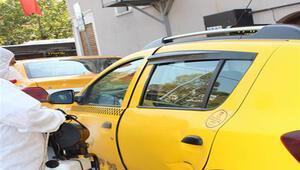 Beykozda hastane, okul ve taksi durakları dezenfekte edildi