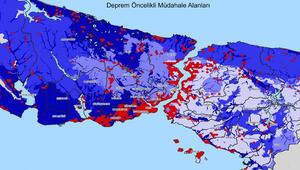İstanbul Deprem Haritası yayınlandı İşte en riskli bölgeler...
