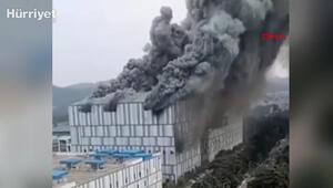 Çinde Huawei laboratuvarında dev yangın