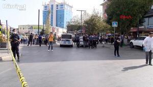 Esenyurtta taksi durağı önünde silahlı kavga