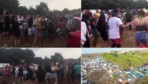 Şileden tepki çeken görüntüler İki bin kişi kamp kurdu, koronavirüse aldırış etmeden böyle eğlendi