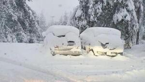 Ülke tarihinde rekor İsviçre'de Eylül ayında kar sürprizi: Kar kalınlığı 25 cm'e ulaştı