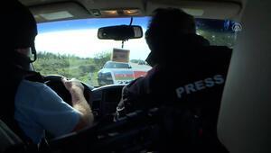 AA ve TRT ekibi Ermenistan saldırısından son anda kurtuldu