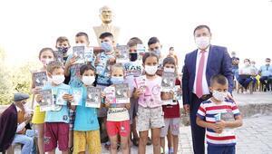 Çocuklara maske ve Nutuk